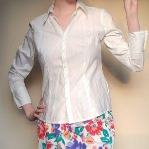 Ann Taylor loft white button down blouse